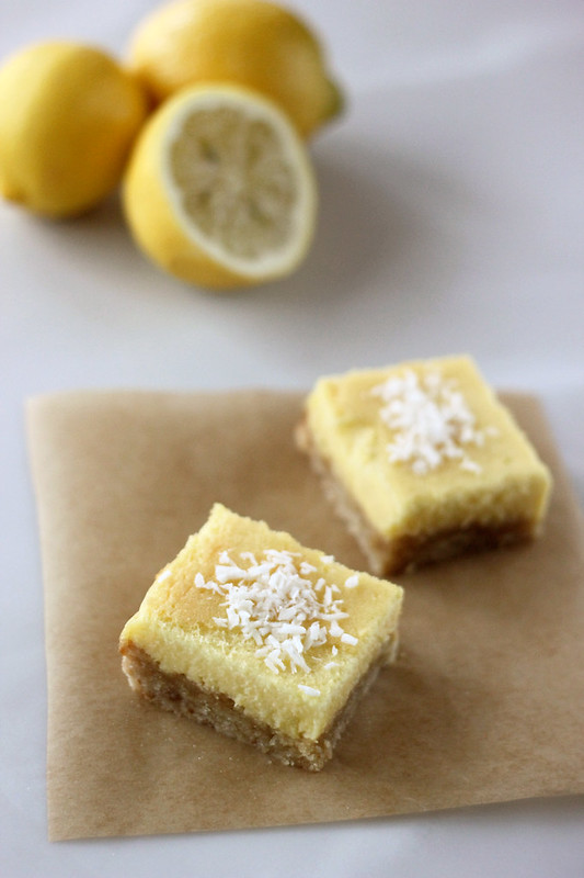 Meyer Lemon Bars - Gluten-free, Grain-free, Dairy-free + Refined Sugar-free