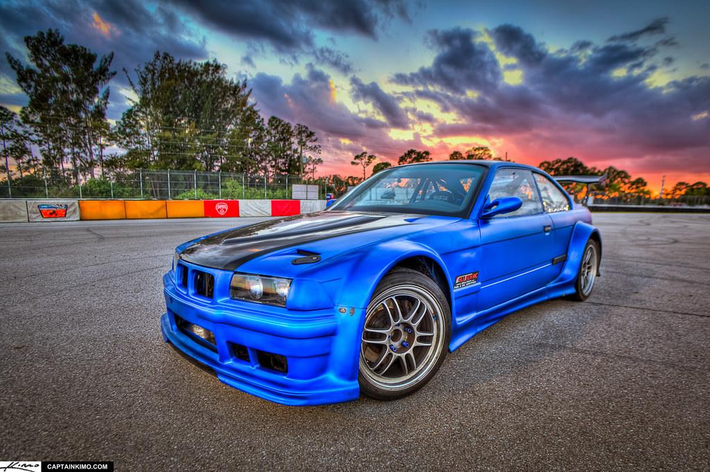 Ter Tech S Bmw Series Drift Car At Pbir During Sunset Flickr