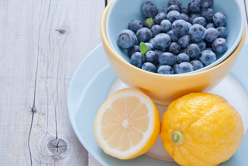 Blueberries and lemon | by letterberry