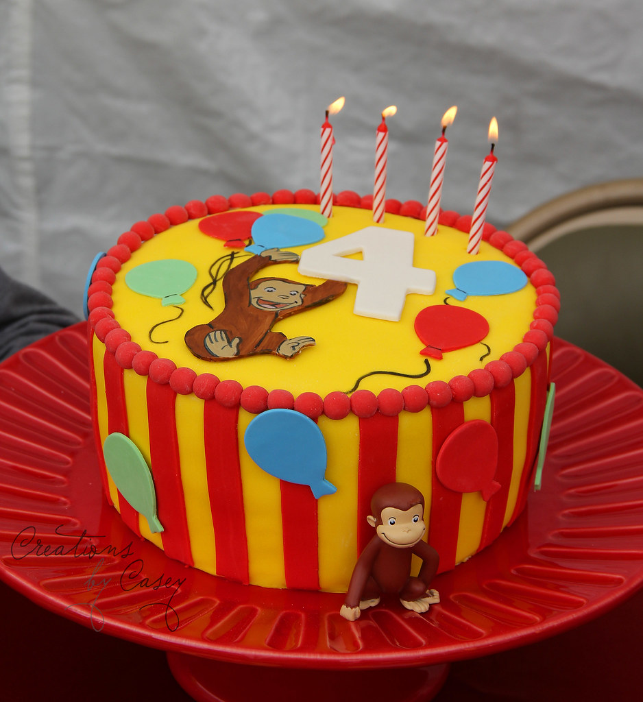 Curious George First Birthday Cake
