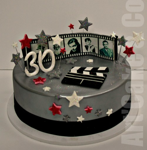 Movie And Music Themed Cake