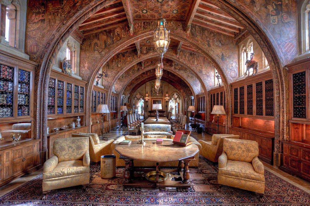 Hearst Castle The Gothic Suite Gothic Study W R