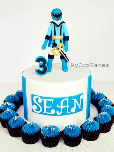 Blue Power Ranger Cake Images