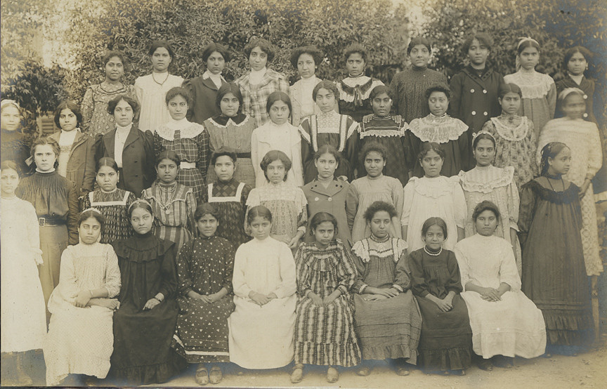 Photograph Of 40 Girls - Native American Boarding School I -9046