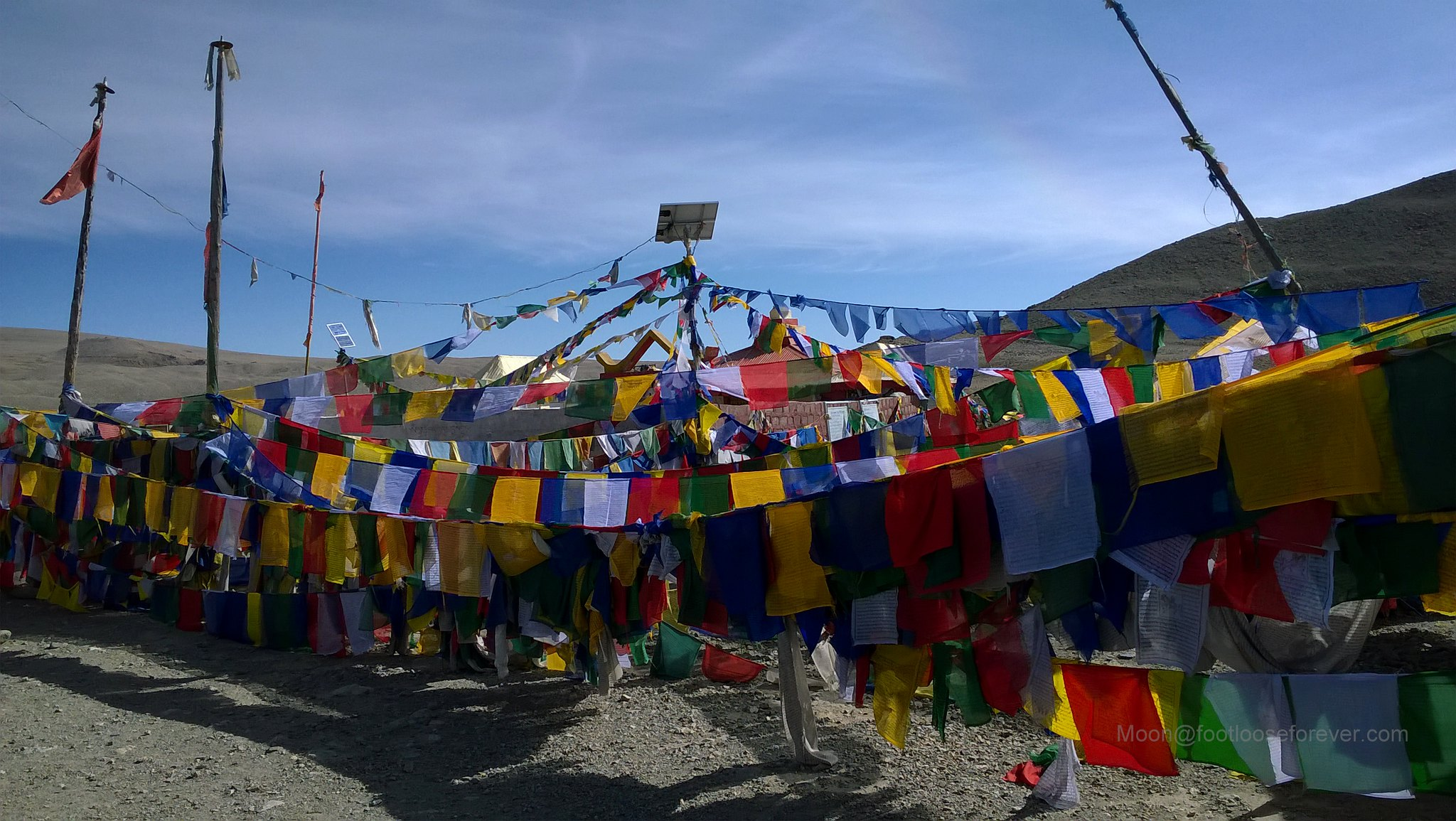 prayer flags, colors, north sikkim, gurudongmar