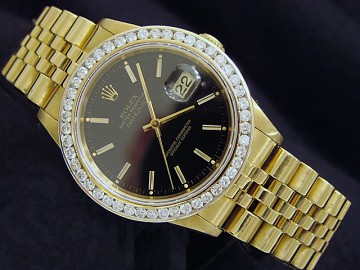 White Gold Full Diamond Rolex