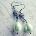 Fanciful Deluxe - Tea Green Pearl Coat Dangle Earrings