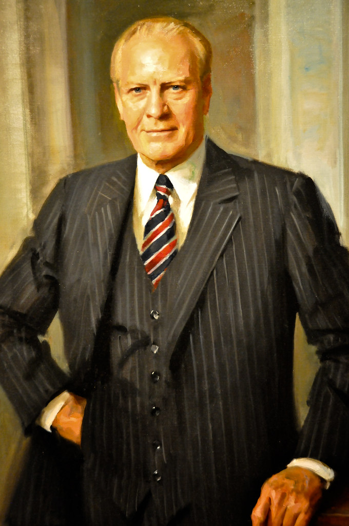 Gerald R Ford Presidential Portrait By Everett Raymond Kin