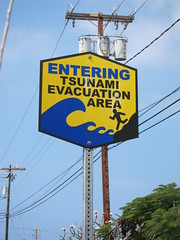 Entering Tsunami Area