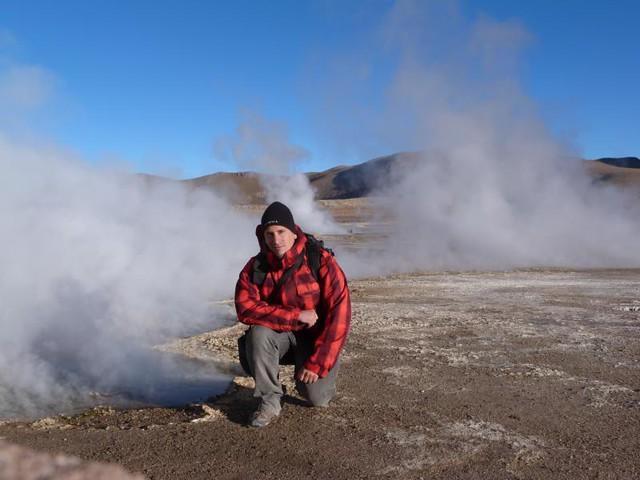 Sele en los géiseres del Tati (Atacama, Chile)