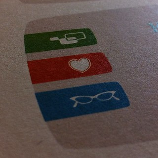 Detail view of our new business cards (test print) | by Aaron Gustafson