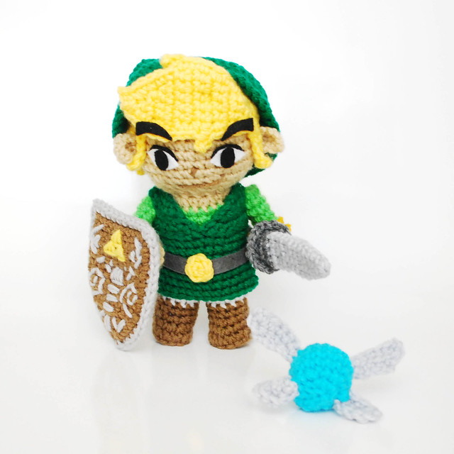 Link Crochet Pattern Zelda : Link, from Zelda. Crochet Amigurumi Plush Doll Flickr ...
