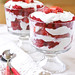 Red Velvet and Strawberry Trifles with Cheesecake Filling