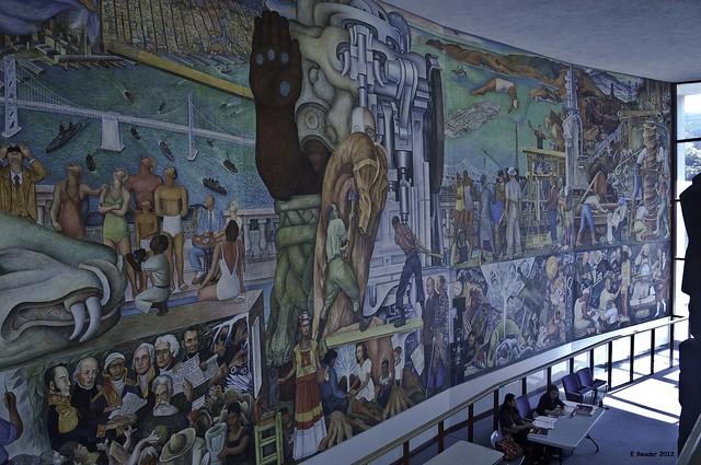 Pan american unity mural by diego rivera right side for Diego rivera pan american unity mural