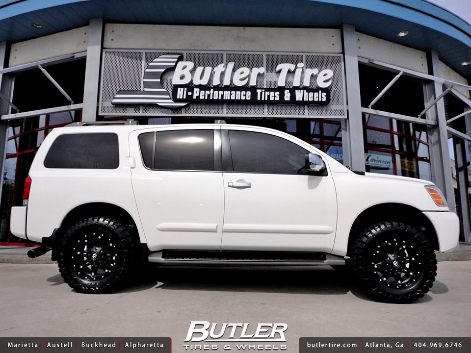 Nissan armada with 18in fuel hostage wheels and 3in level flickr