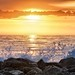 Surf at Sunrise on Hunting Island by Jim Crotty