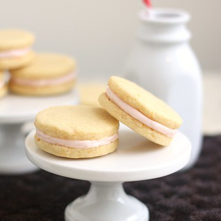 Pink Grapefruit Sandwich Cookies | by Tracey's Culinary Adventures