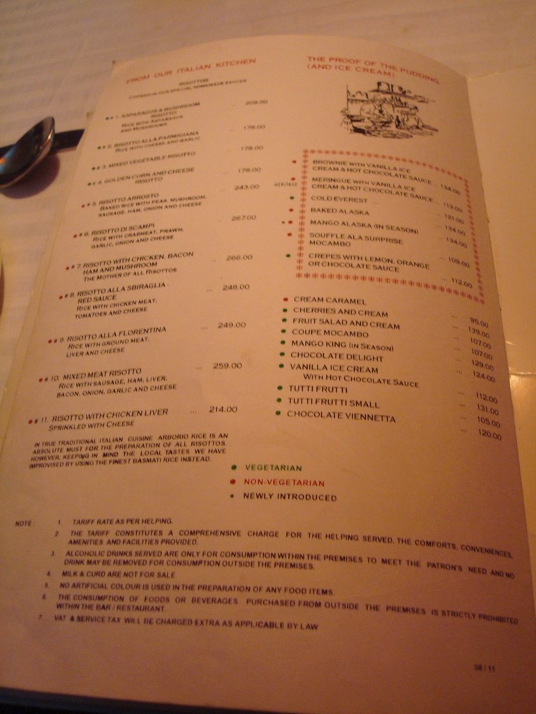 Menu At Mocambo 4 I Was Fascinated To See The Menu