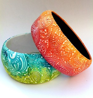 Playful inks - bangles | by Vero Sturdy