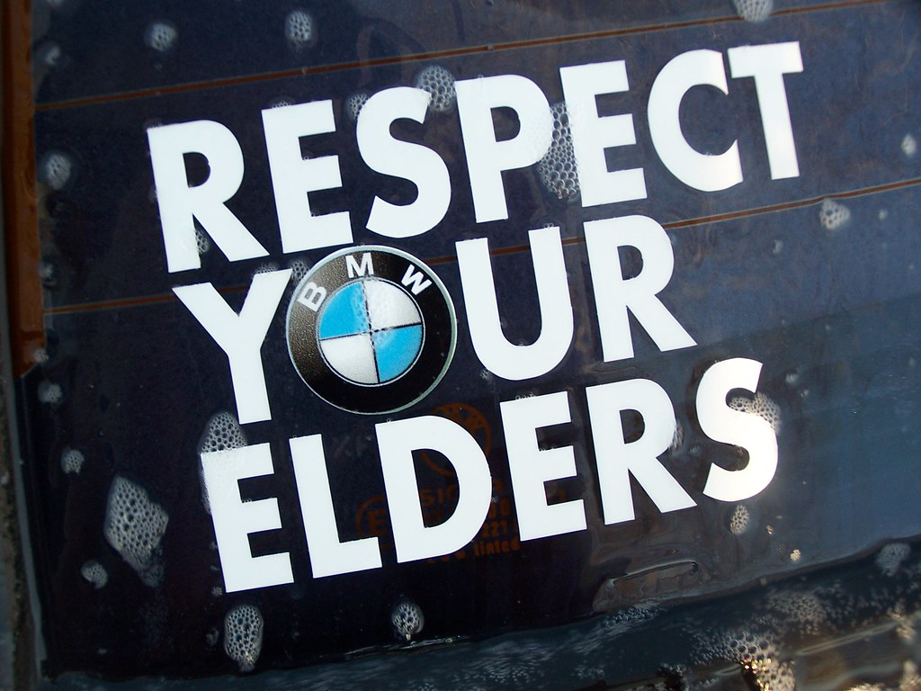 respect elders In today's society, and at younger and younger ages, people are increasingly horrified by the rude attitude and foul language used by young people of all ages.