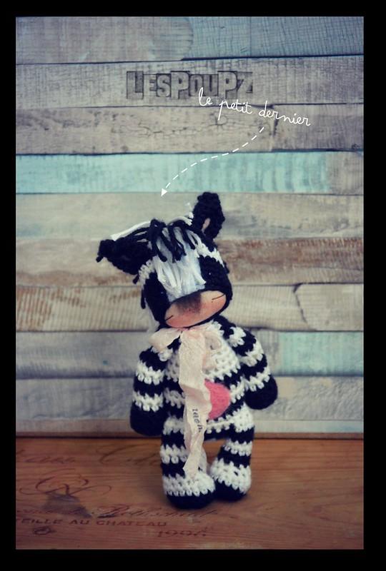Titi Zebra, by LesPouPZ Handmade Dolls