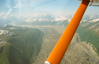 Denali 2001: Flying over Tokositna Glacier on our way to Denali. | by eoind