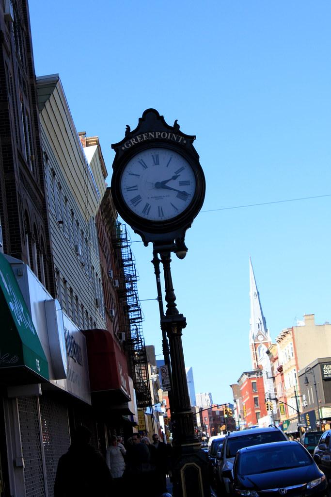 Sidewalk Clock 753 Manhattan Avenue Greenpoint
