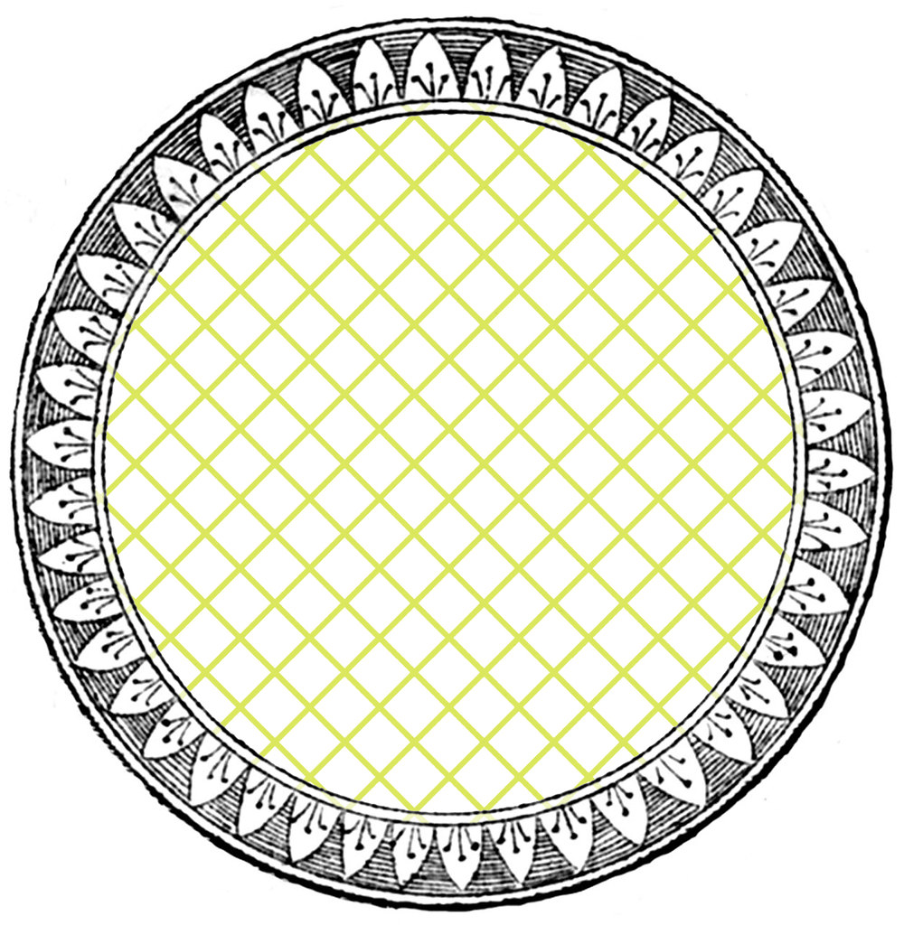 Diamond Grid Outline Paper