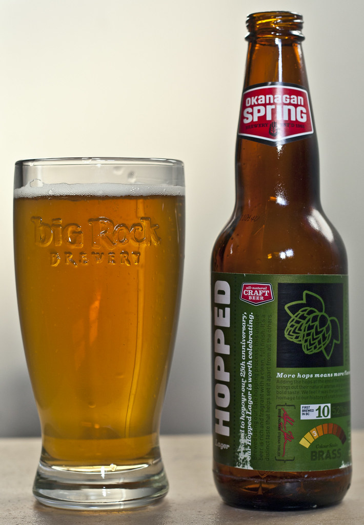 Review: Okanagan Spring Hopped Lager by Cody La Bière
