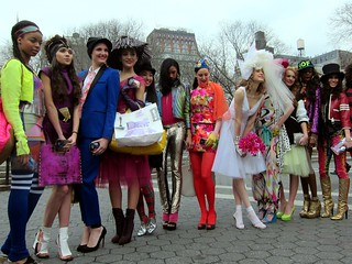Fashion Week NYC February 2012, Patricia Field, Union Square, the models | by Scoboco