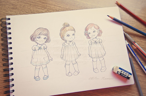 WIP: Drawing paper dolls ~ Explored ~ | by Lola · Atelier Momoni +