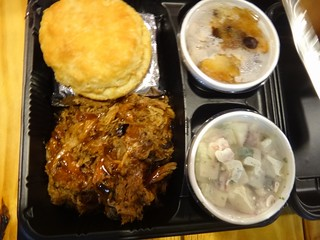 Pulled Pork, Potato Salad, Bread Pudding | by Traveler Foodie