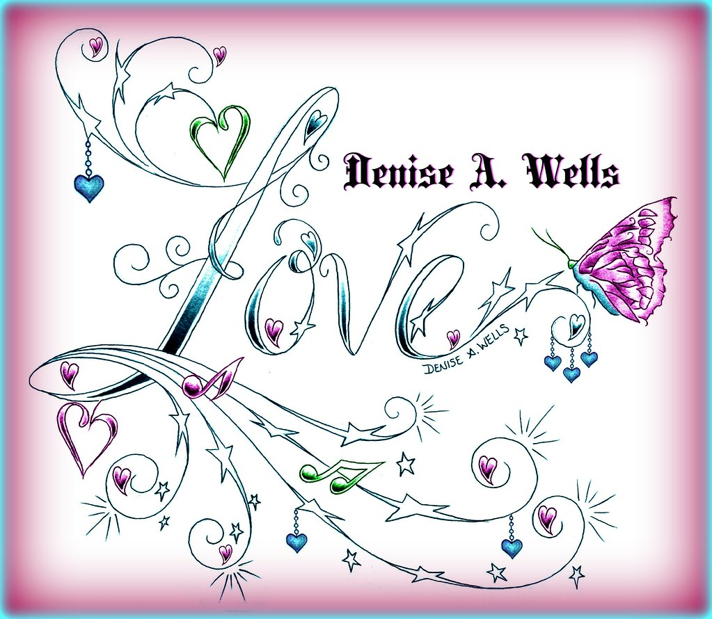 love stars tattoo design by denise a wells new love tatto flickr. Black Bedroom Furniture Sets. Home Design Ideas