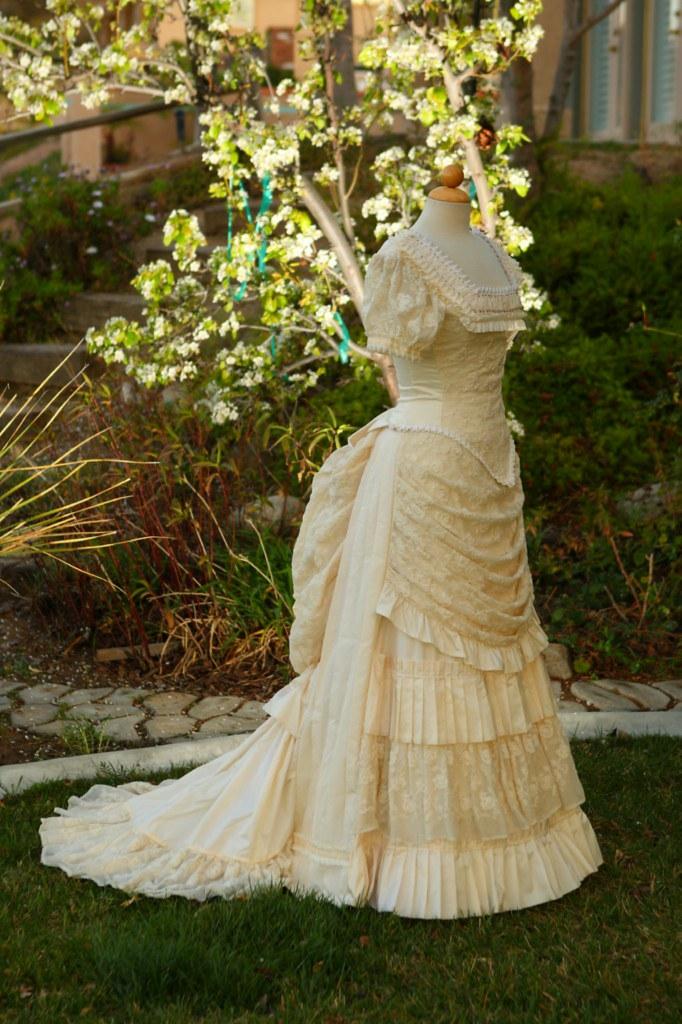 Silk Amp Cotton Net Lace Wedding Bustle Dress Bustlelady