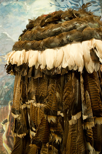 feather cloak, Museum of The Cherokee Indian, Cherokee, NC | by Xavier de Jauréguiberry