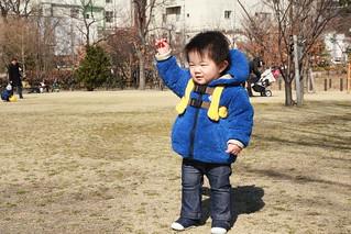 中目黒公園のとらちゃん(2012/2/12)