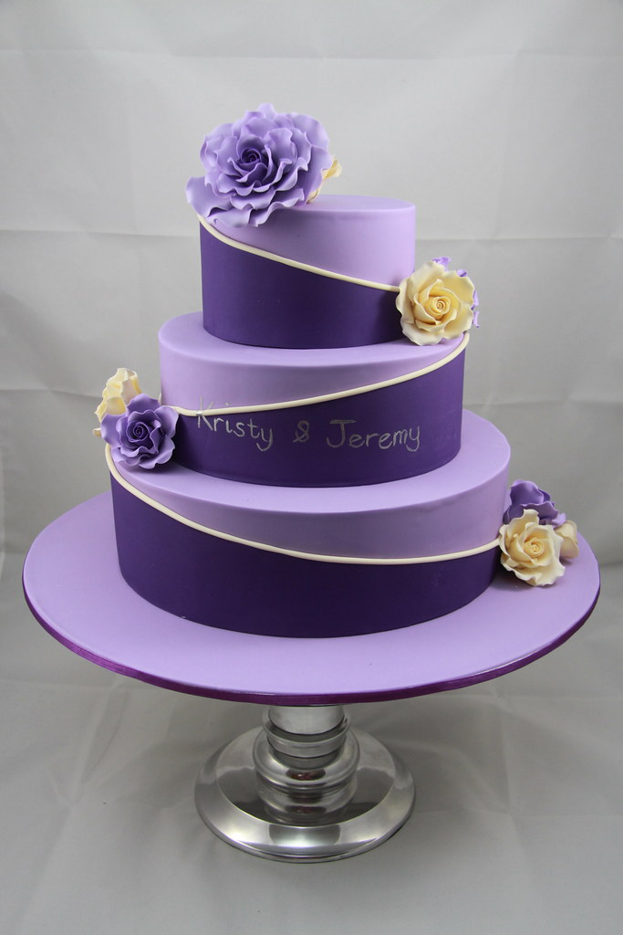 Lavender Colour Birthday Cake
