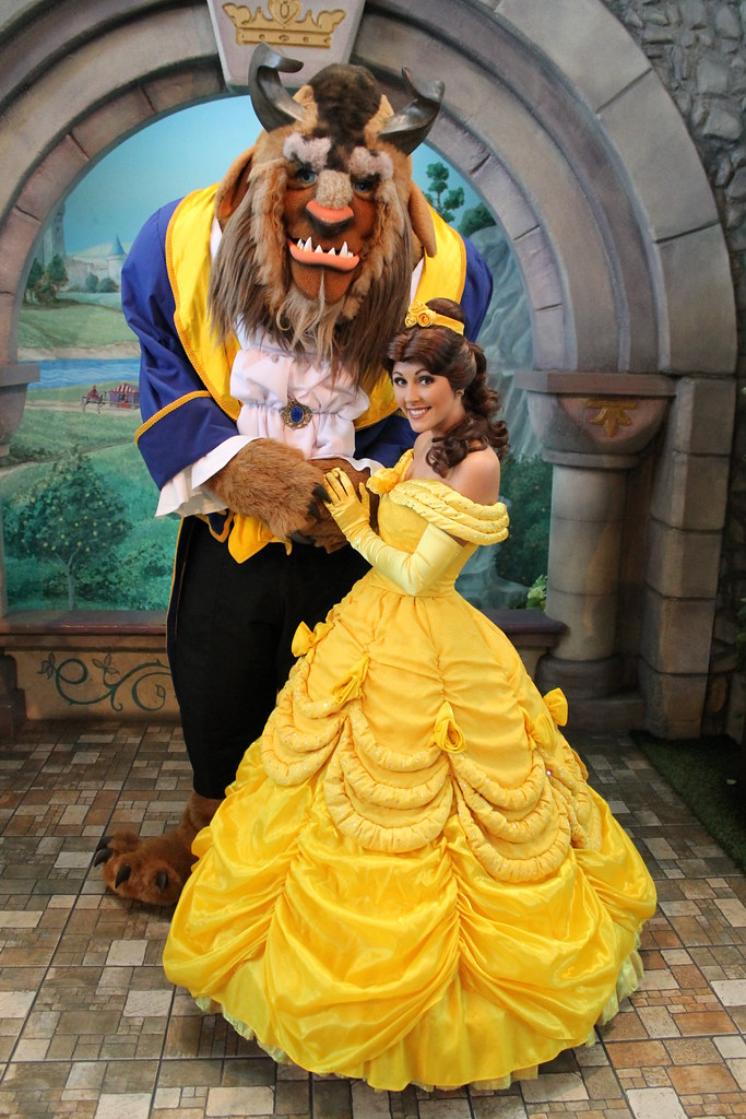 Meeting Belle And The Beast On February 14 2012 At The