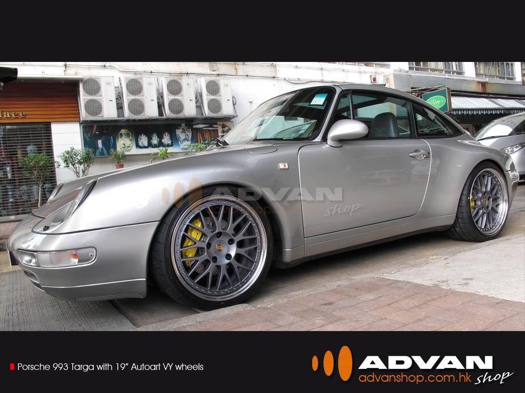 Porsche 993 Targa With 19 Autoart Vy Wheels Fr Porsche