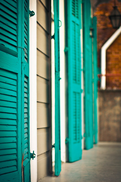 Nola French Quarter Teal Shutters Flickr Photo Sharing