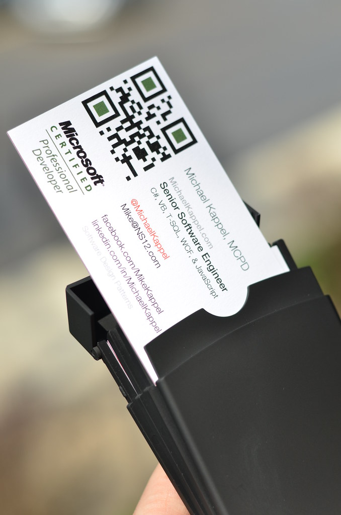 QR Code Business Cards | Microsoft Certified Professional De… | Flickr