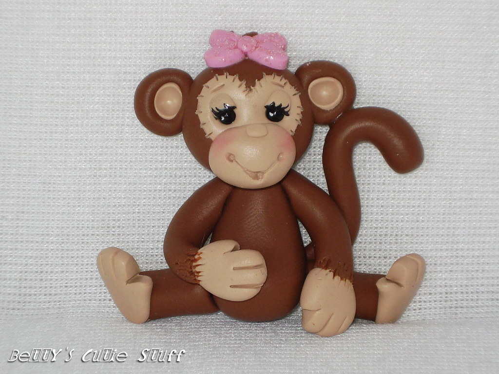 Monkey Girl Polymer Clay Bead Charm Bow Center Flickr