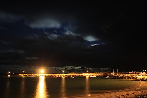 Full Moon over Struisbaai Harbour | by Capestars