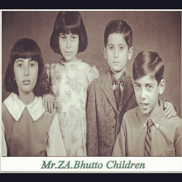 Very Rare Picture Of Bhutto Family Ghulam Mujaddid Flickr - Bhutto family