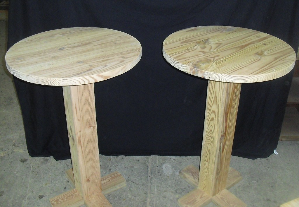 Superb Round Reclaimed Wood Bar Tables  OldGrowthRiverw   Reclaimedu2026   Flickr