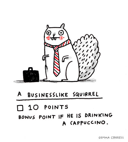 business squirrel | by gemma correll