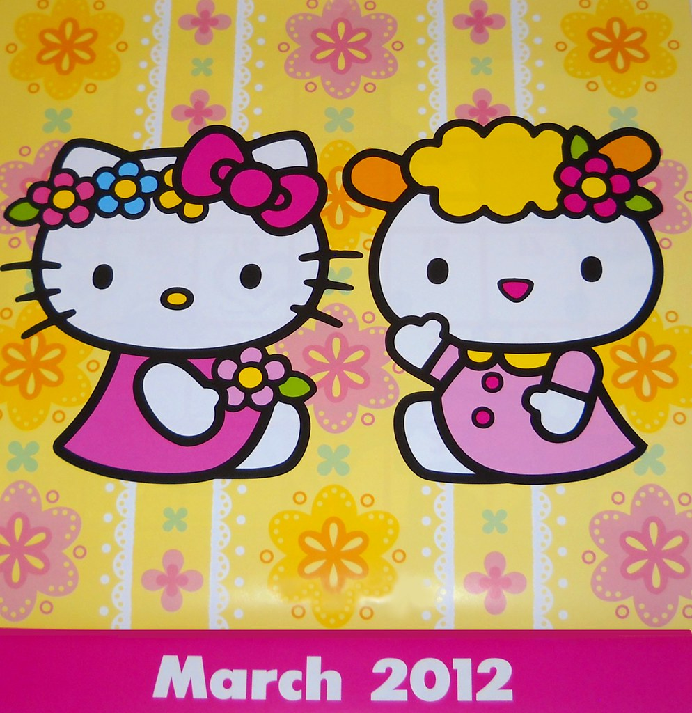 hello kitty calendar march 2012 hello kitty and her