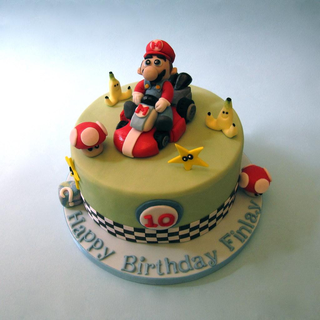Super Mario Kart Birthday Cake A Super Mario Kart