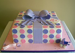 Gift box baby shower cake