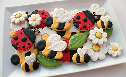 Bees and Ladybug Cookies | by SweetSugarBelle